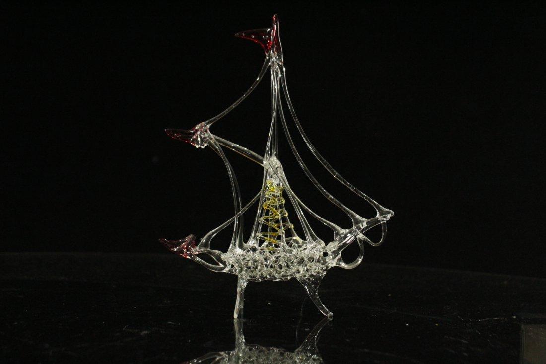 Two [2[ Pieces HANDBLOWN STUDIO GLASS Piano & Ballerina - 5