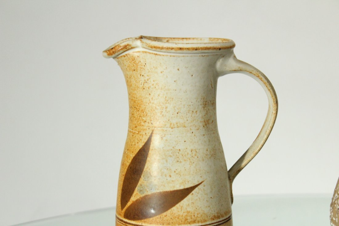 Two [2] Mid-Century Modern STUDIO POTTERY PITCHERS - 4
