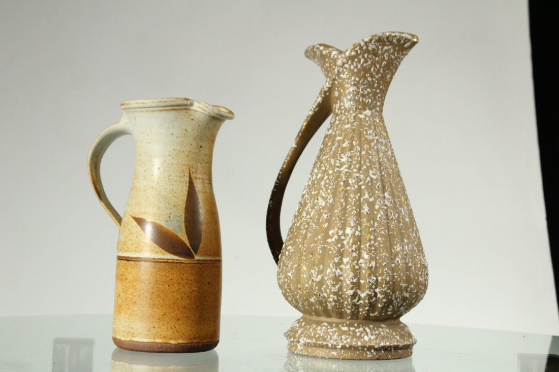 Two [2] Mid-Century Modern STUDIO POTTERY PITCHERS - 5