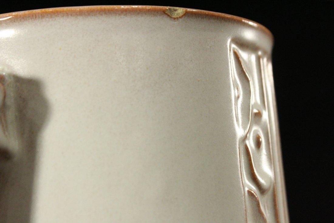 ROSEVILLE Pottery ART DECO 2-Handled Vase - 3