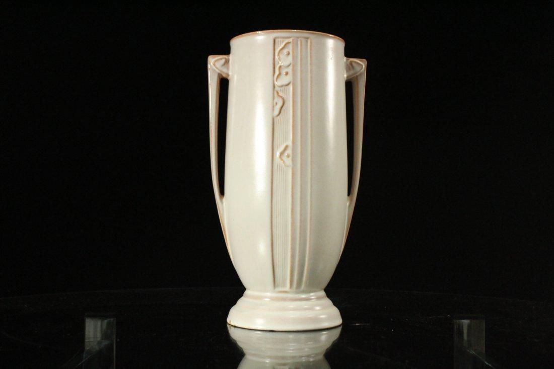 ROSEVILLE Pottery ART DECO 2-Handled Vase - 4