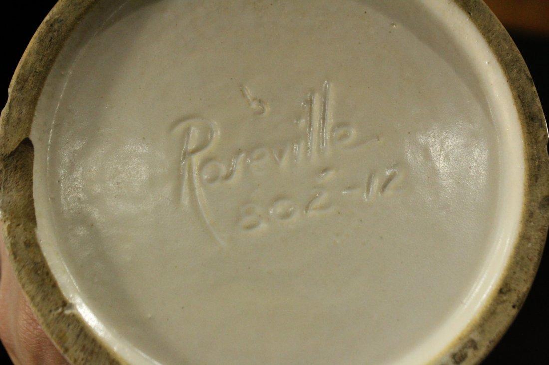 ROSEVILLE Pottery ART DECO 2-Handled Vase - 5