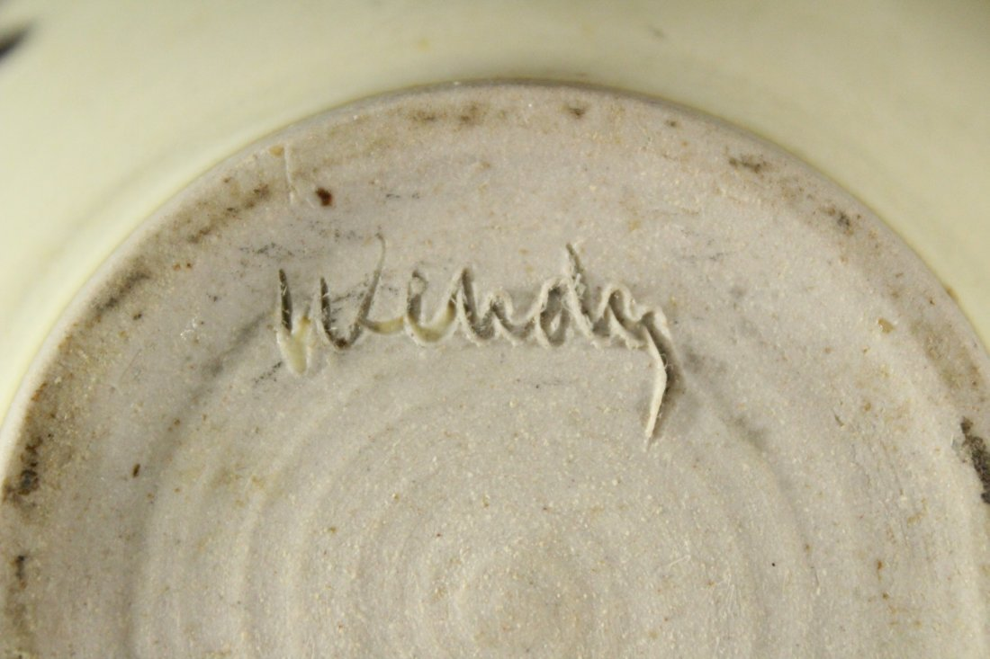 Mid-Century Studio Art Pottery Bowl Artist Signed - 3