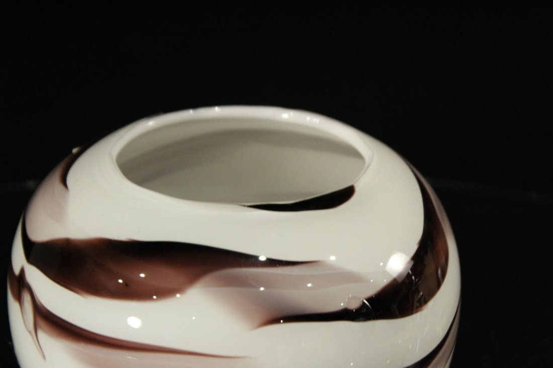 Mid-Century Modern Art Glass Rose Bowl - 3