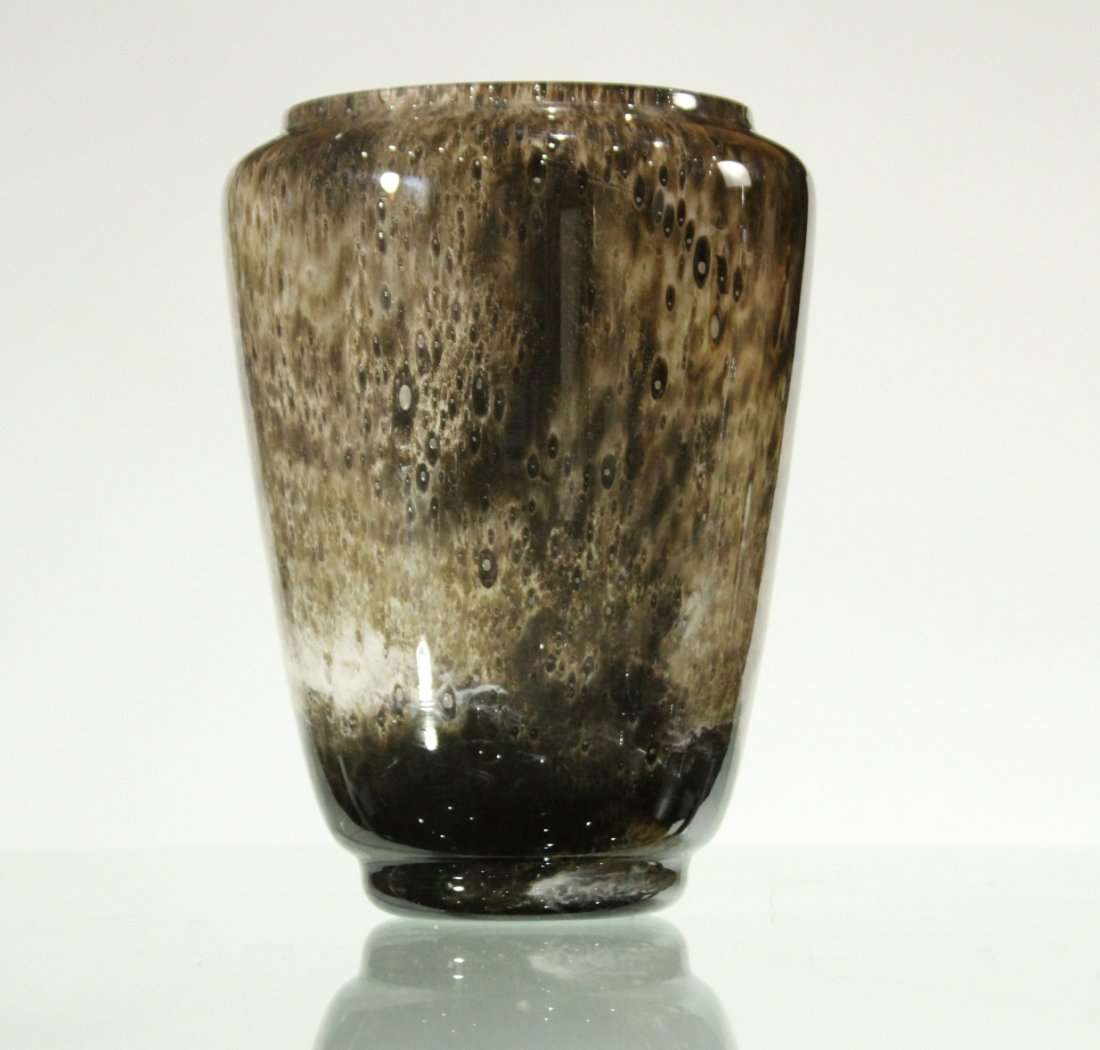 Mid-Century STUDIO ART GLASS Vase, Artist Signed