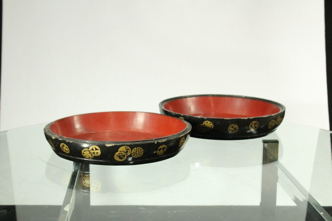 Wooden Round ORIENTAL COVERED FOOD BOWL Decorated - 3