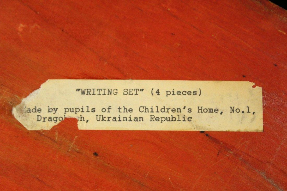 UKRAINE REPUBLIC Carved Desk Writing Set - 7