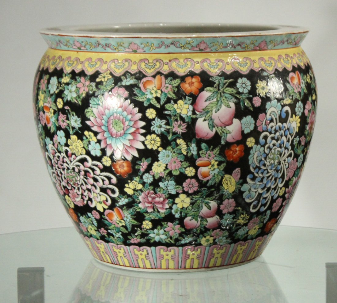 Oriental Porcelain FISH BOWL All over Decorated