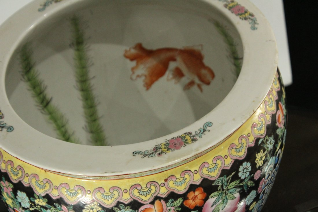 Oriental Porcelain FISH BOWL All over Decorated - 2