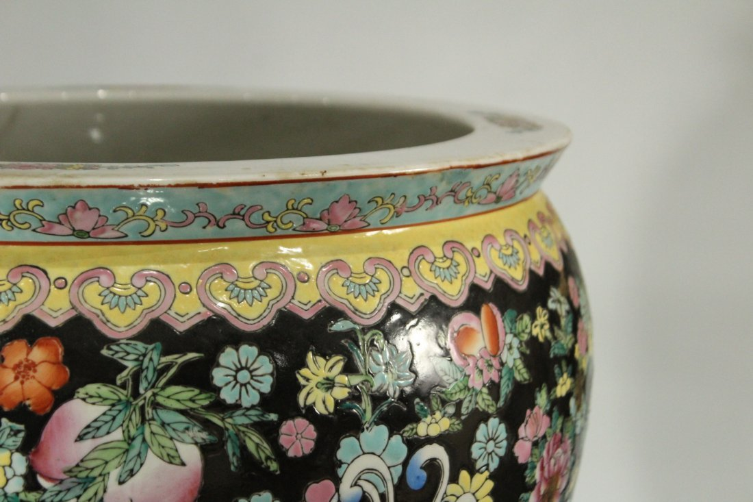 Oriental Porcelain FISH BOWL All over Decorated - 3