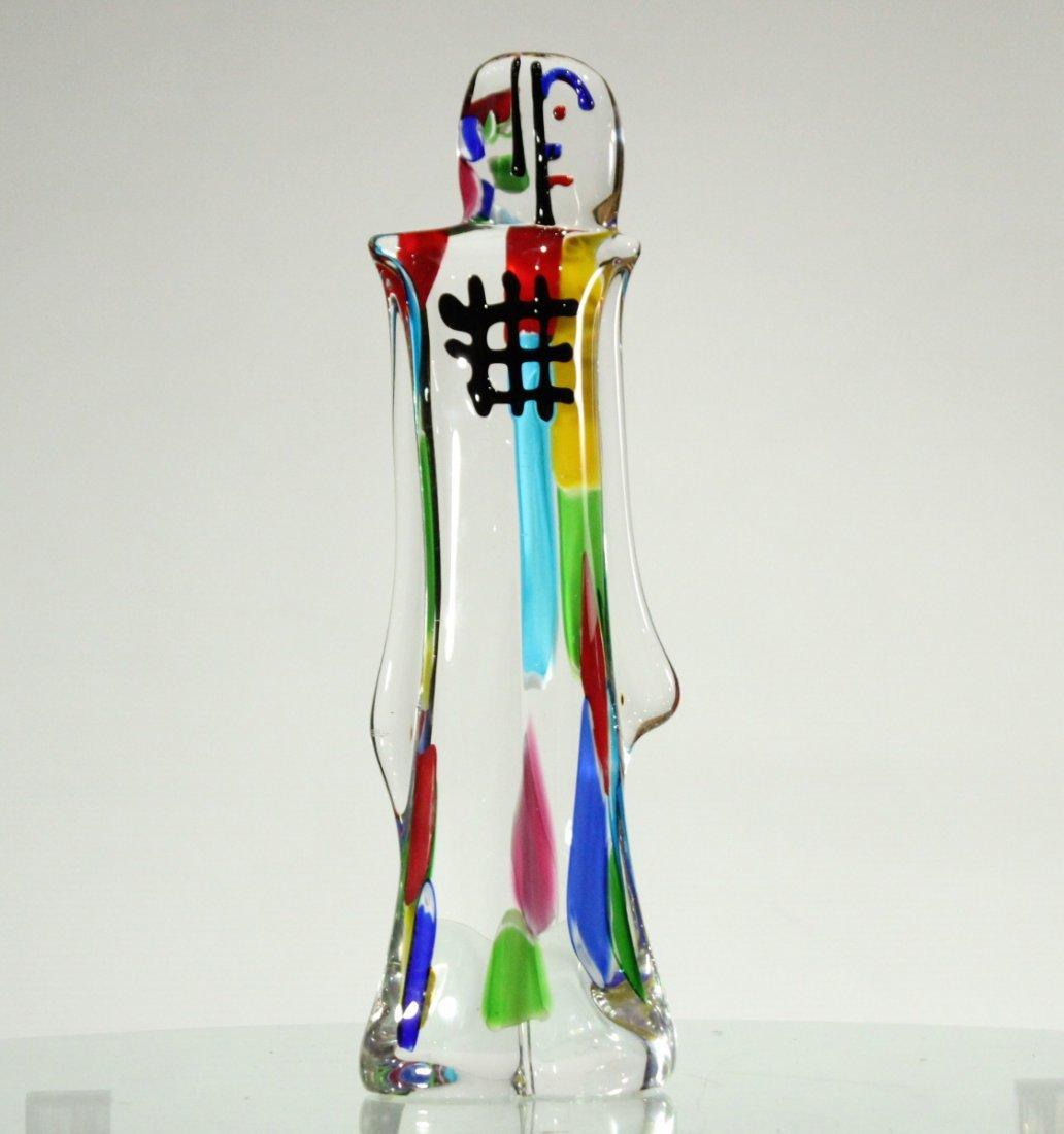 PICASSO STYLE MURANO ART GLASS FIGURE SCULPTURE