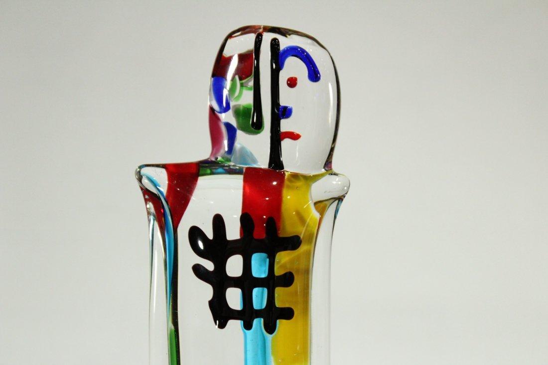 PICASSO STYLE MURANO ART GLASS FIGURE SCULPTURE - 2