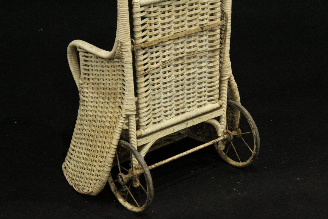 Circa 1920 Childs Dolls WICKER RICKSHAW - 5