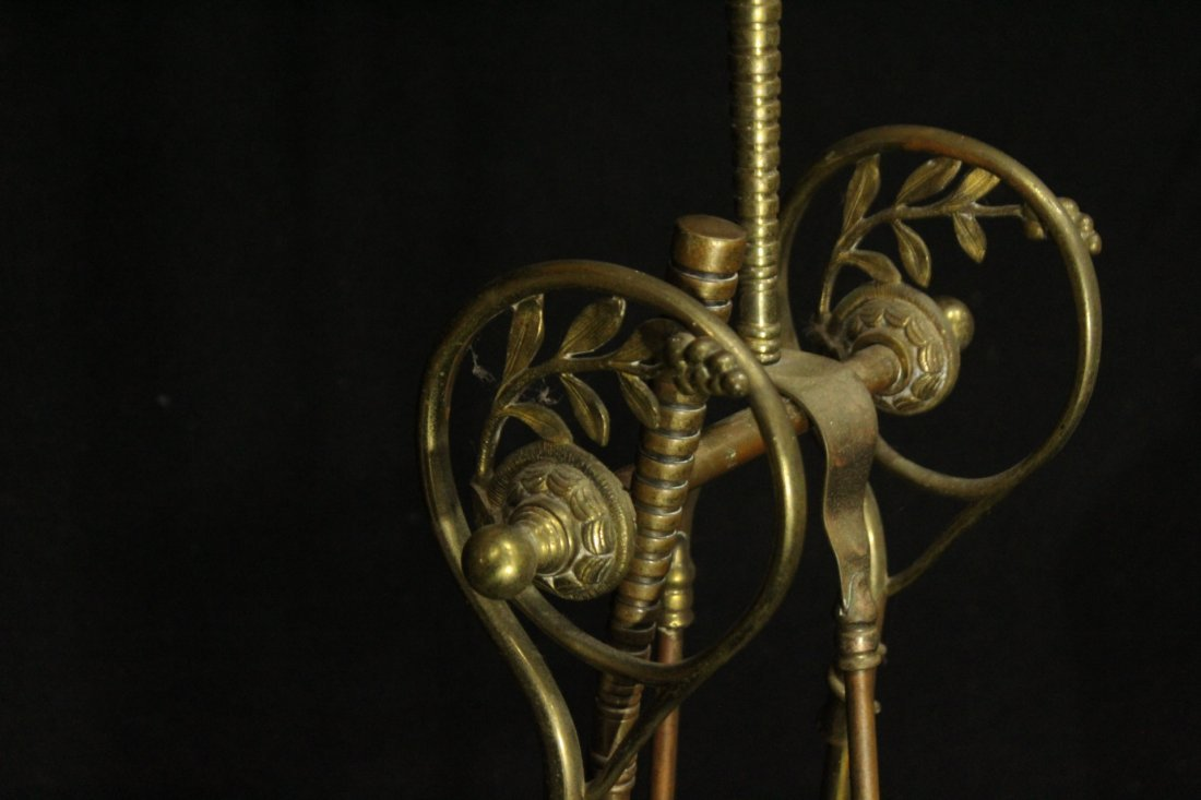 VICTORIAN AESTHETIC MOVEMENT Brass Fireplace Holder - 5