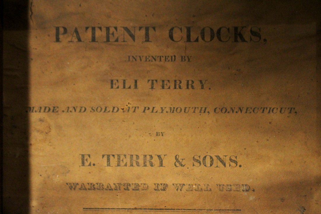 ELI TERRY / E TERRY & SONS Steeple Mantle Clock - 5