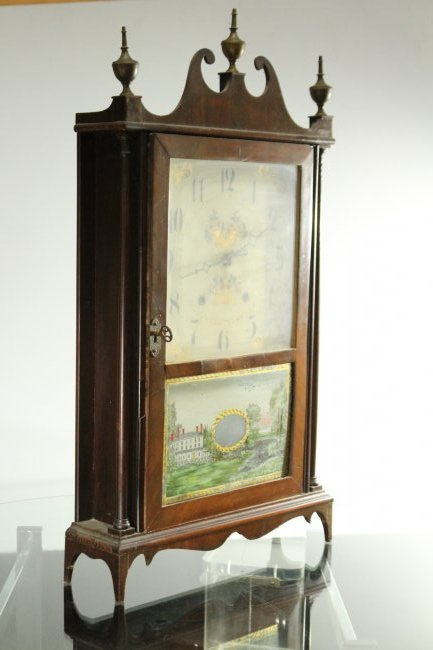 ELI TERRY / E TERRY & SONS Steeple Mantle Clock - 6