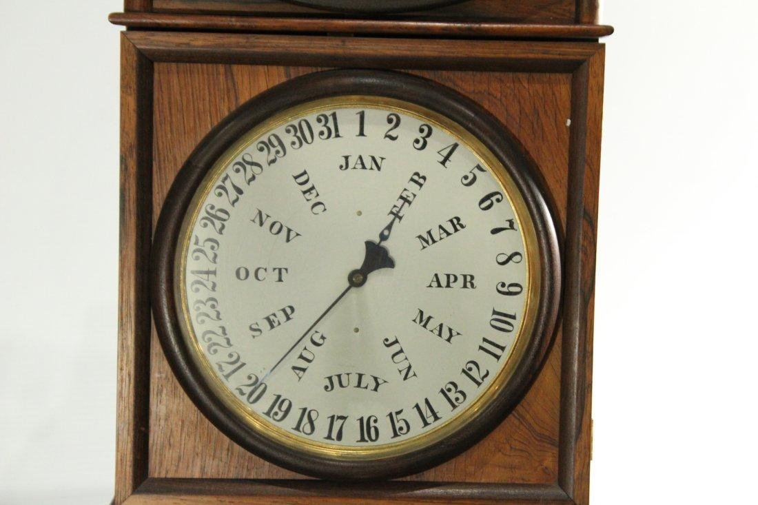 WELCH, B B LEWIS PERPETUAL CALENDAR CLOCK Rosewood - 2