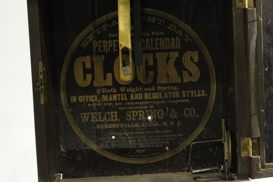 WELCH, B B LEWIS PERPETUAL CALENDAR CLOCK Rosewood - 5