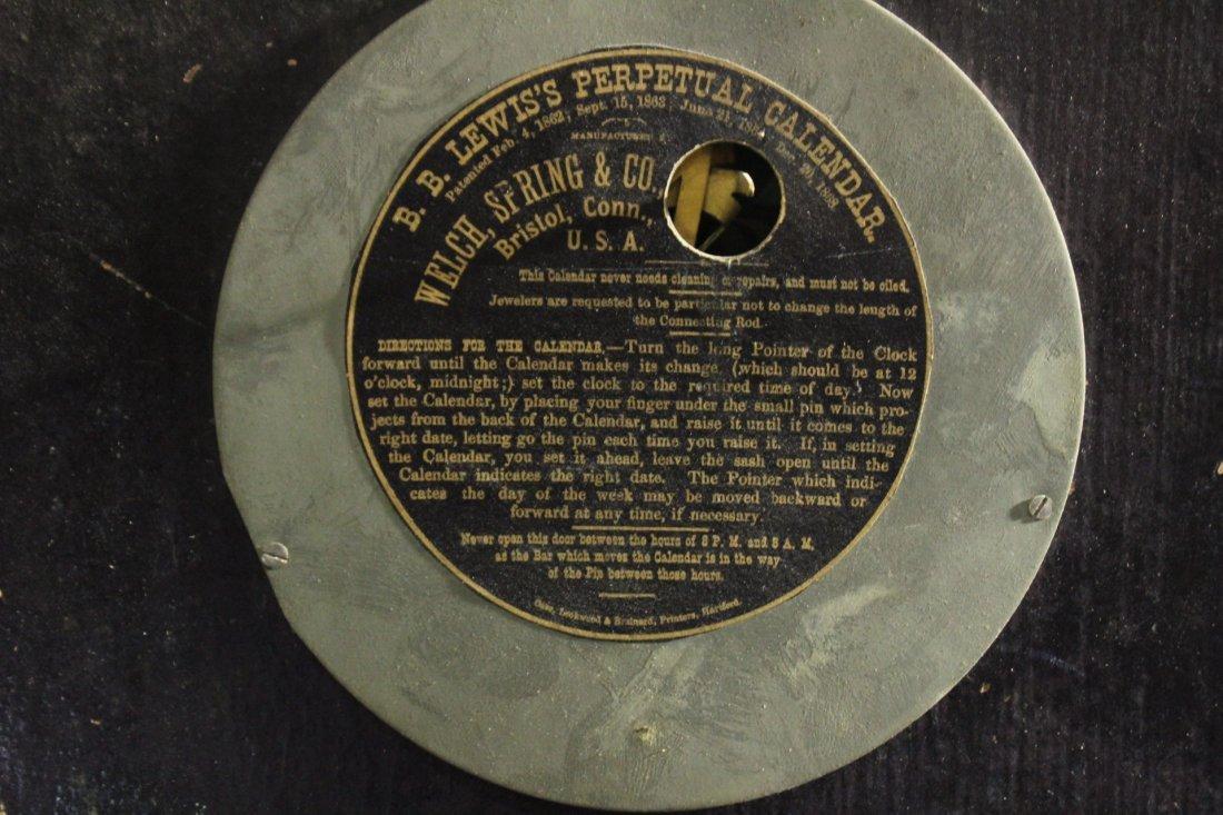 WELCH, B B LEWIS PERPETUAL CALENDAR CLOCK Rosewood - 6