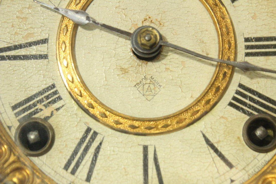 ANSONIA ROYAL BONN GERMANY Porcelain Mantle Clock - 3