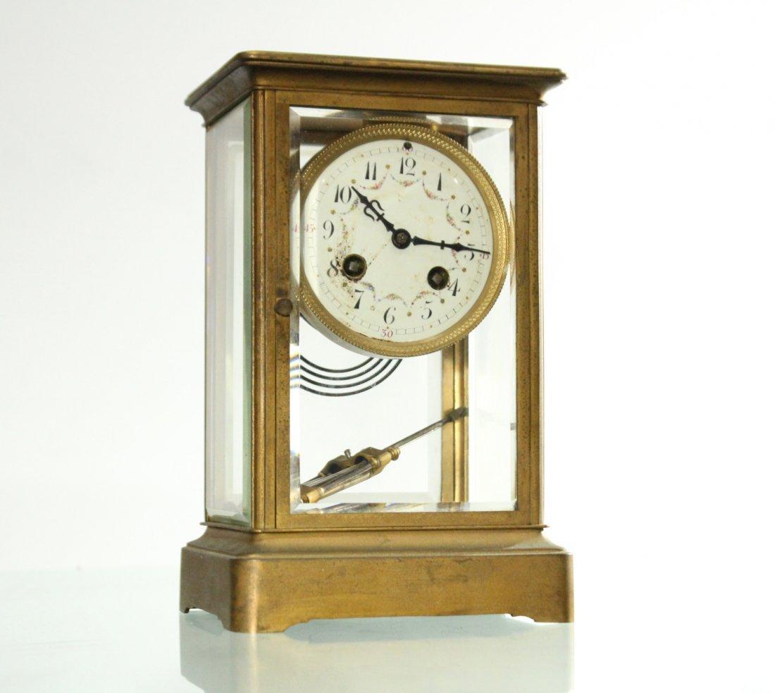 TIFFANY & CO Brass Crystal Regulator Clock