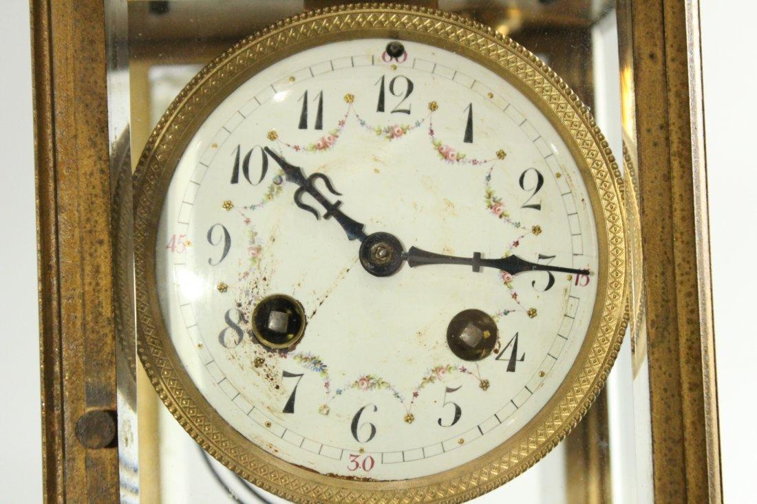 TIFFANY & CO Brass Crystal Regulator Clock - 2