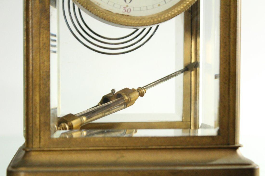 TIFFANY & CO Brass Crystal Regulator Clock - 3