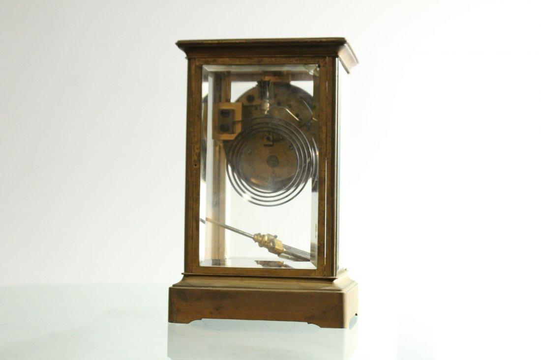 TIFFANY & CO Brass Crystal Regulator Clock - 4