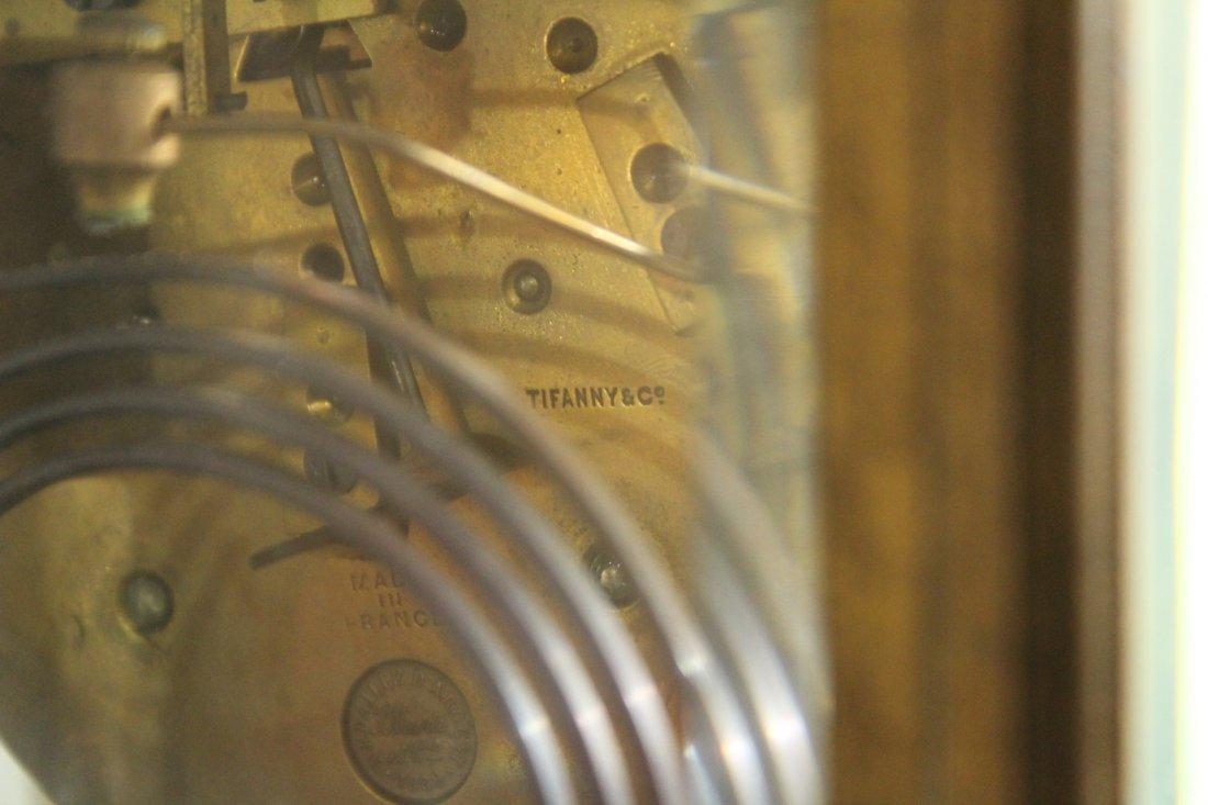 TIFFANY & CO Brass Crystal Regulator Clock - 6