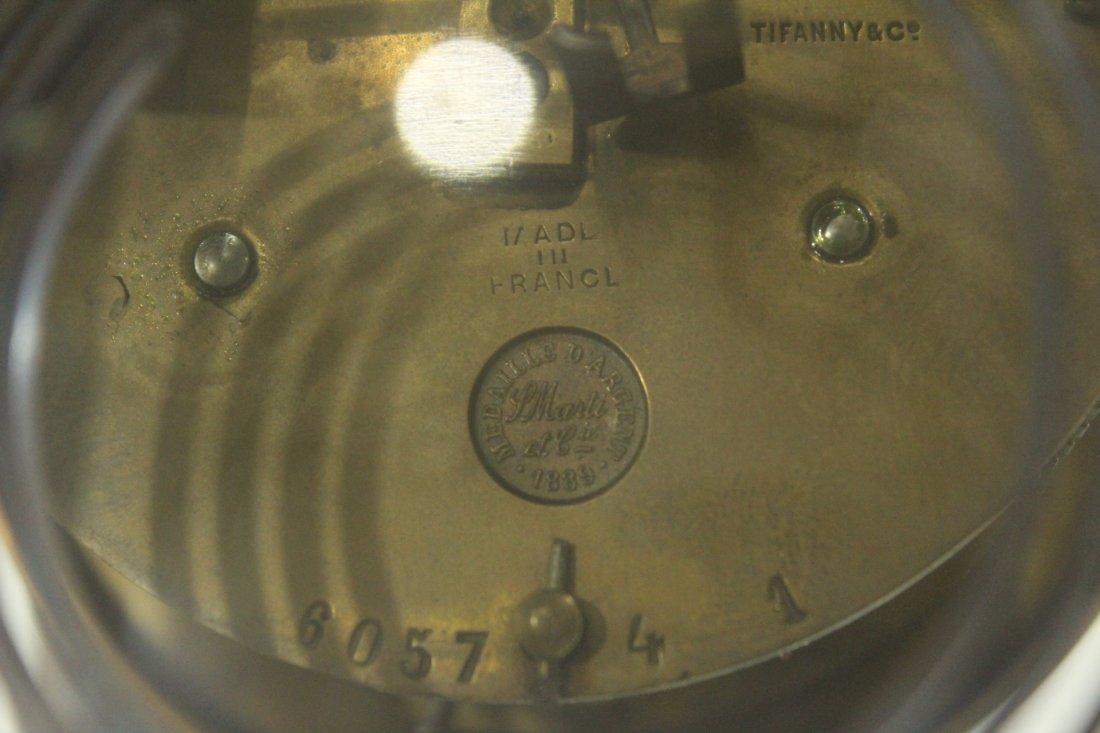 TIFFANY & CO Brass Crystal Regulator Clock - 7