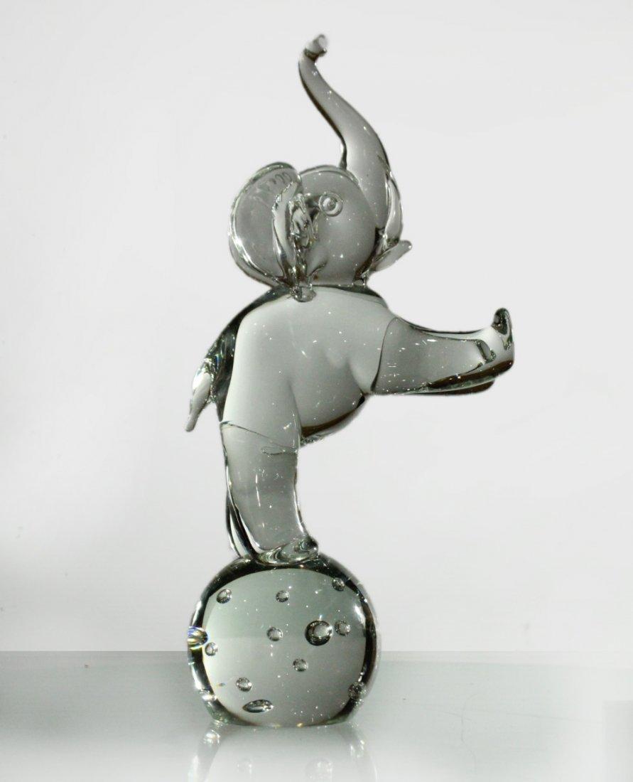 LICIO ZANETTI MURANO GLASS ELEPHANT Sculpture