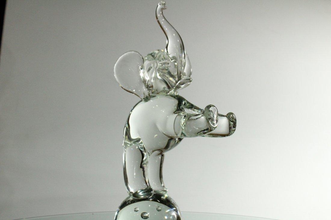 LICIO ZANETTI MURANO GLASS ELEPHANT Sculpture - 2