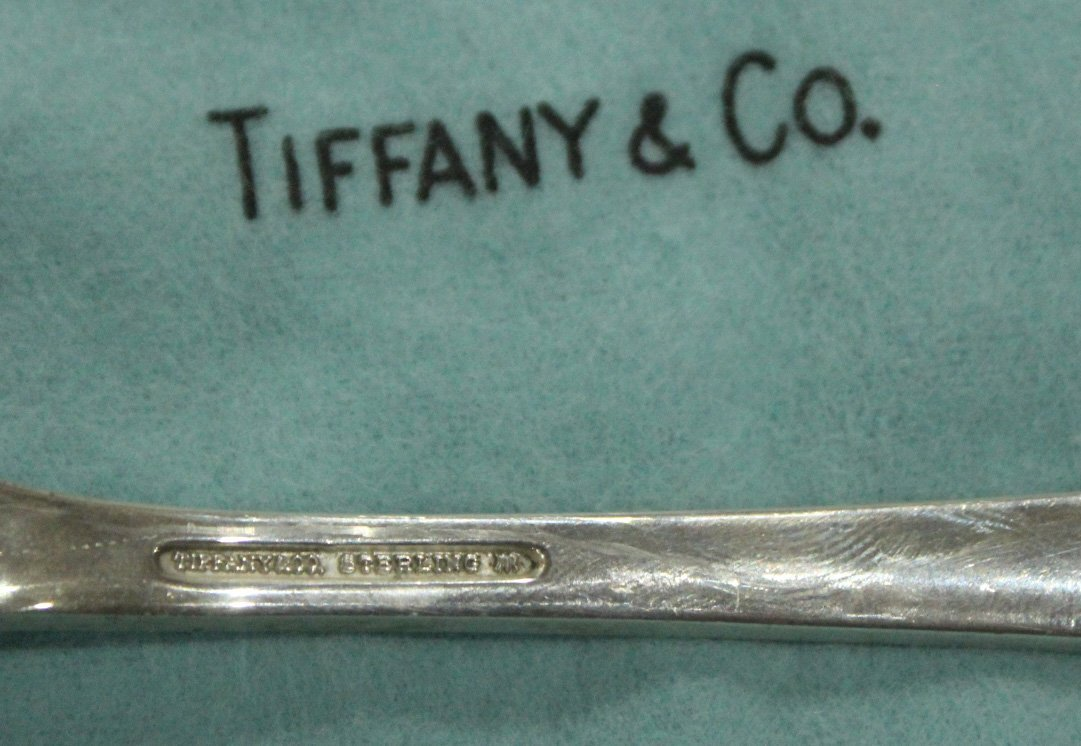 TIFFANY & CO STERLING Serving Fork & Spoon ; 6.39 oz - 2