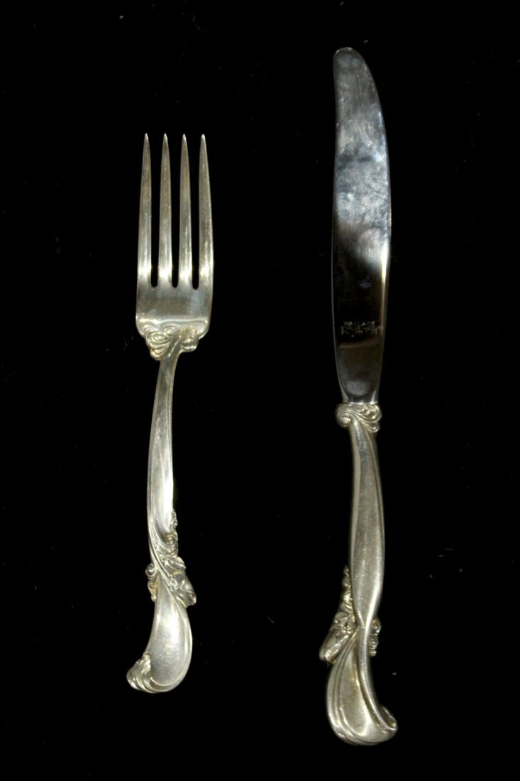WALLACE STERLING Fork and Knife, weight 1.98 oz [fork]