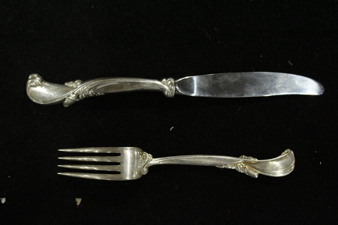 WALLACE STERLING Fork and Knife, weight 1.98 oz [fork] - 3