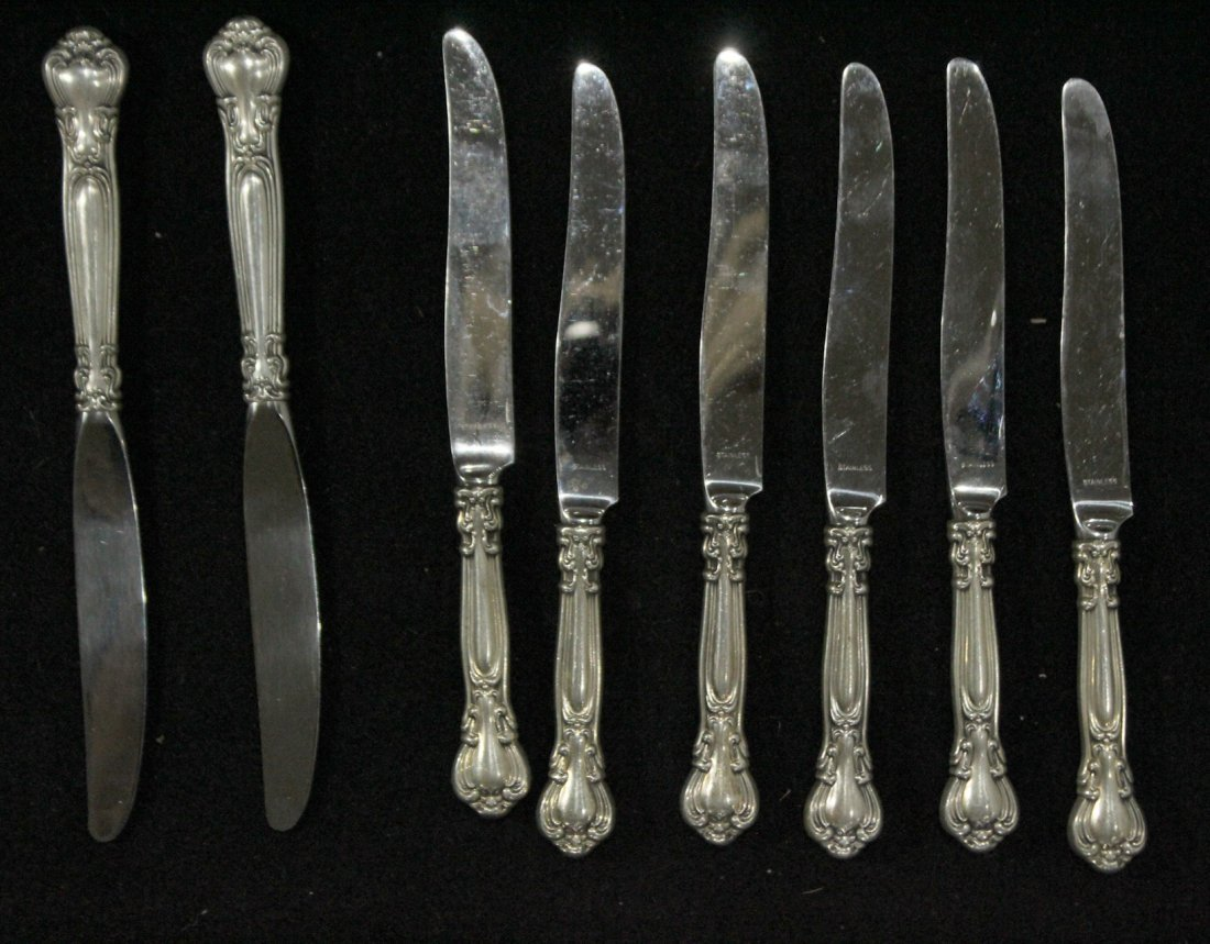Eight [8] GORHAM STERLING HANDLED KNIVES