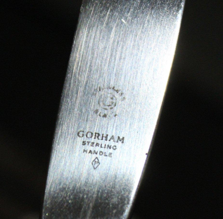 Eight [8] GORHAM STERLING HANDLED KNIVES - 3