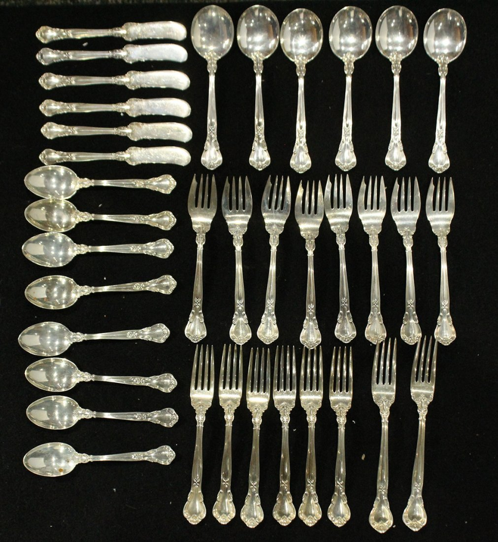 GORHAM CHANTILLY STERLING FLATWARE 36 Pcs; 45.69 oz. - 3