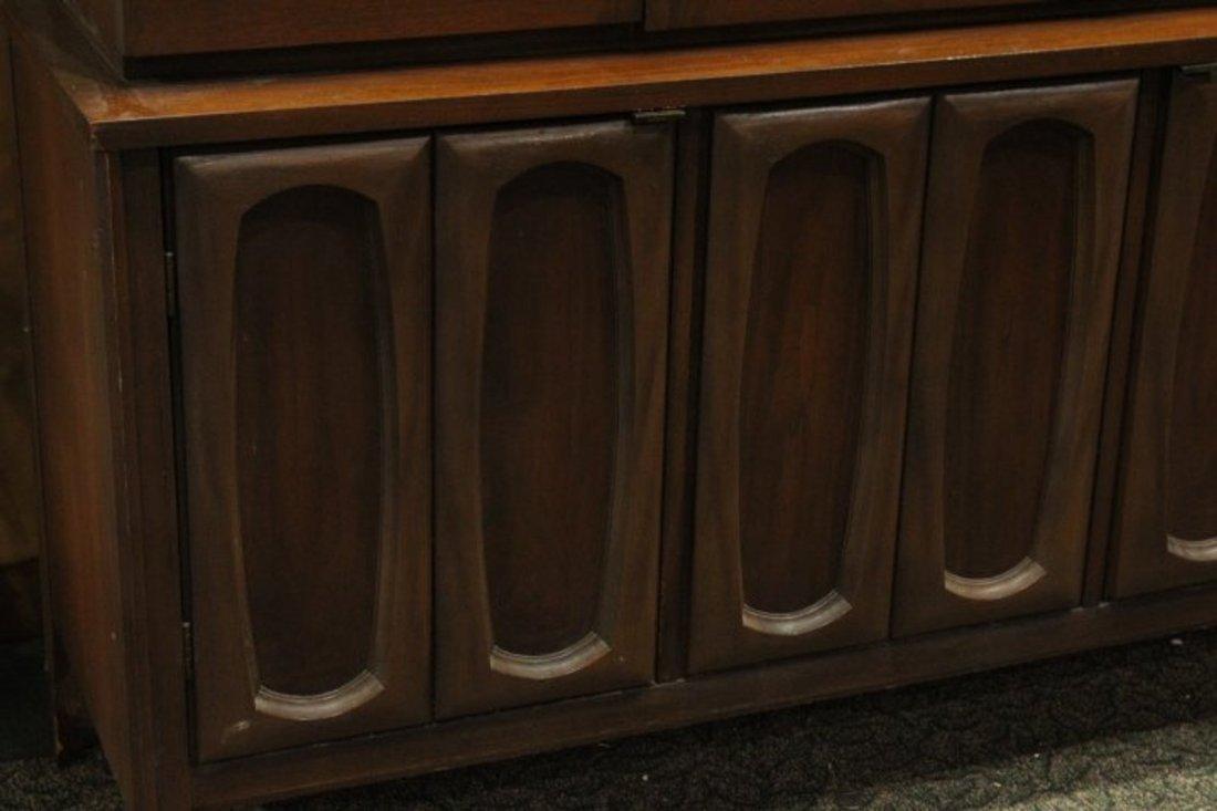 Mid-Century Modern Walnut Stylish China Cabinet - 2