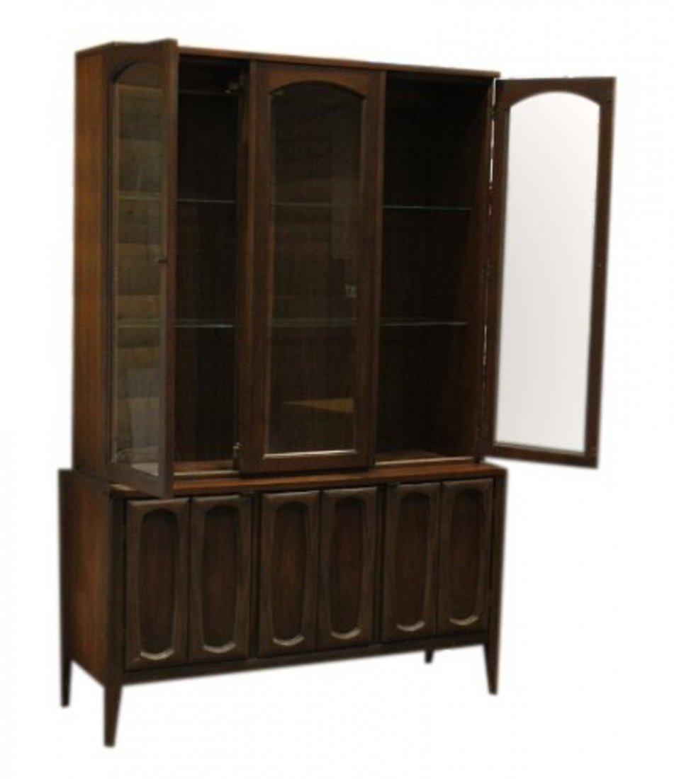 Mid-Century Modern Walnut Stylish China Cabinet - 5