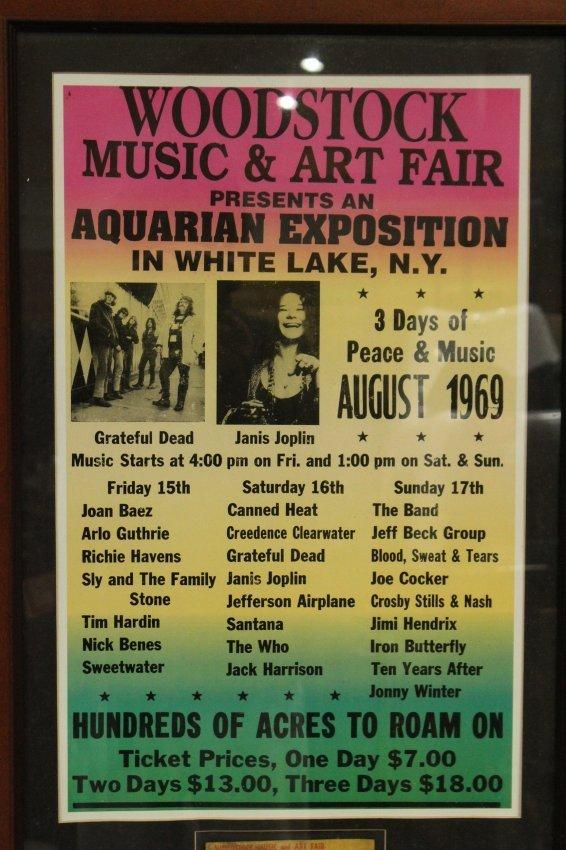 WOODSTOCK 1969  concert poster with ORIGINAL TICKET - 2