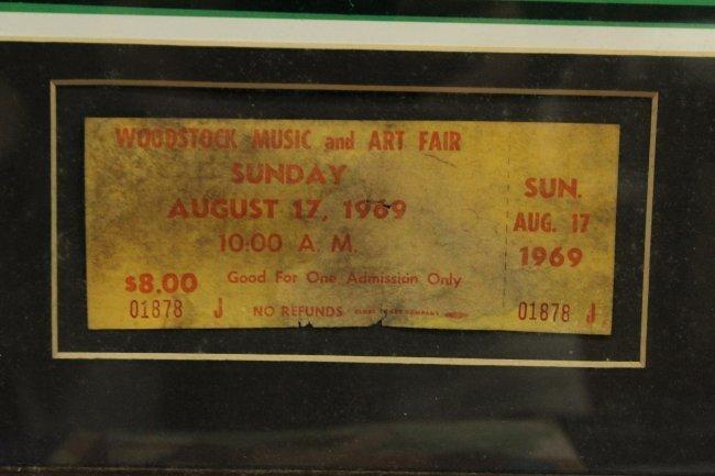 WOODSTOCK 1969  concert poster with ORIGINAL TICKET - 3