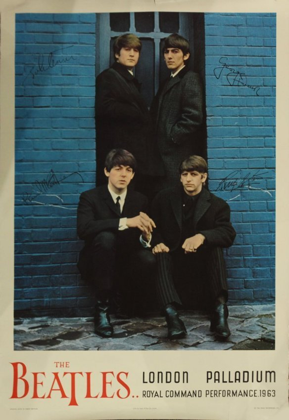 RARE Early 1960s BEATLES POSTER C.1964 Nems Enterprises