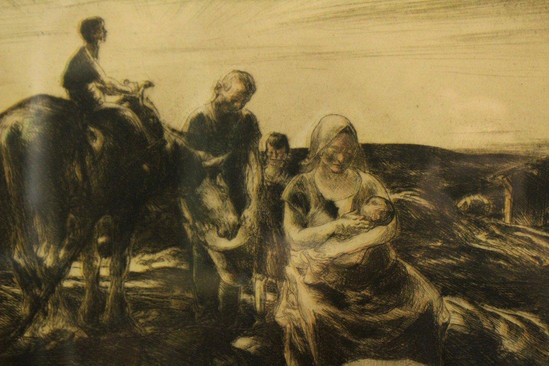 JOHN COSTIGAN  (1888 - 1972) SUNDOWN Signed Etching - 2