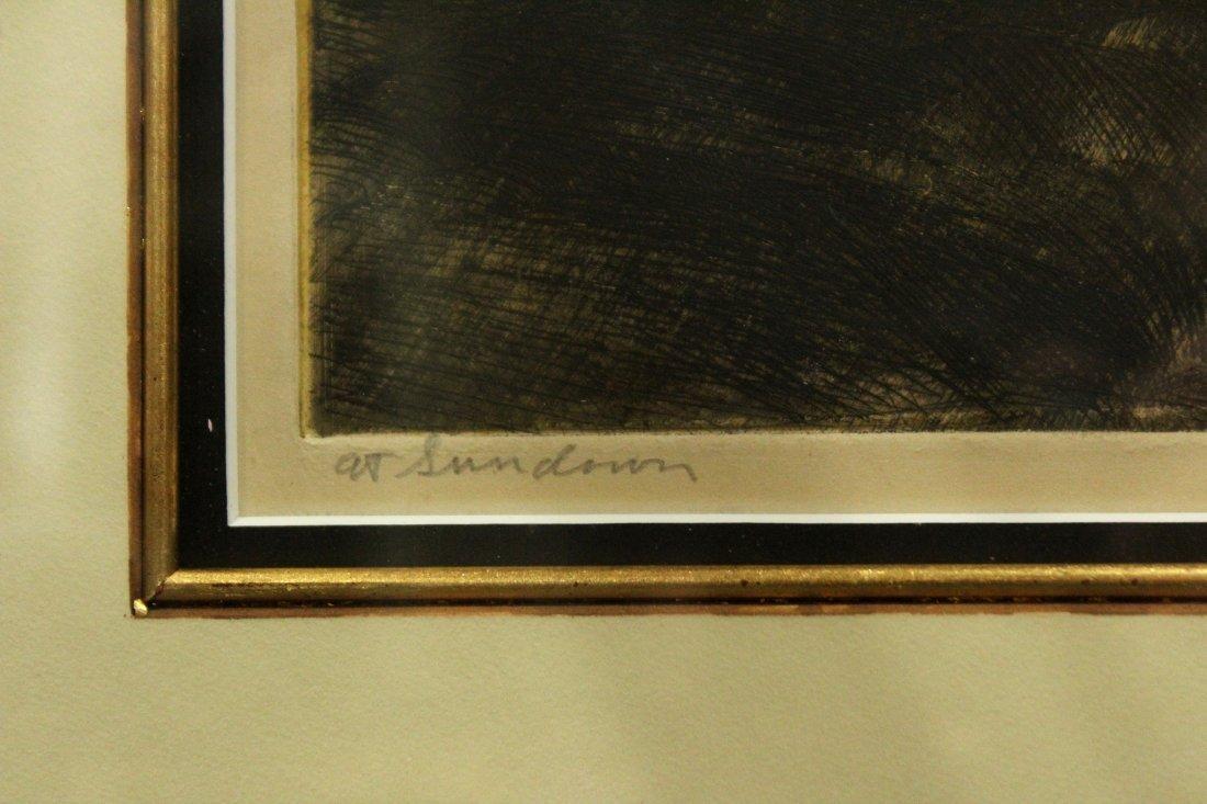 JOHN COSTIGAN  (1888 - 1972) SUNDOWN Signed Etching - 4