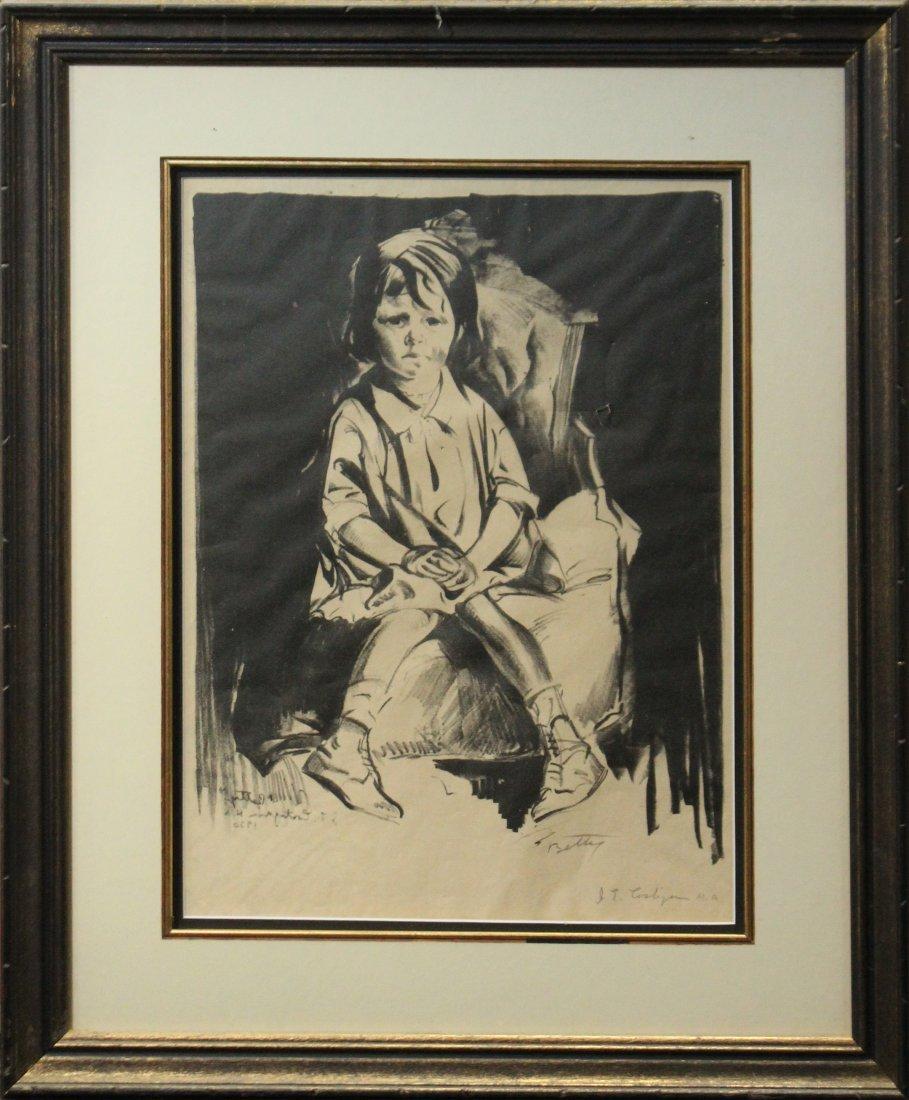 JOHN COSTIGAN  (1888 - 1972) BETTY Signed Etching.