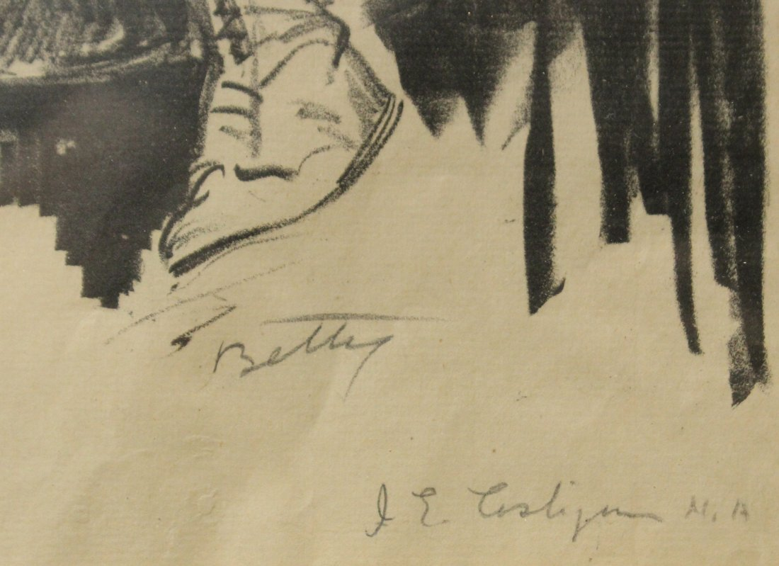 JOHN COSTIGAN  (1888 - 1972) BETTY Signed Etching. - 2