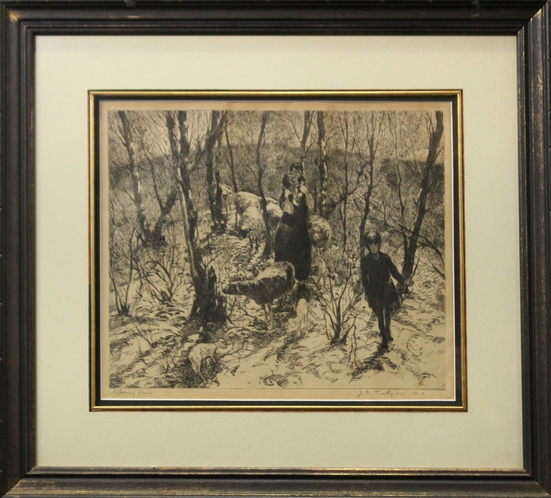 JOHN COSTIGAN  (1888 - 1972) SPRING TIME Signed Etching