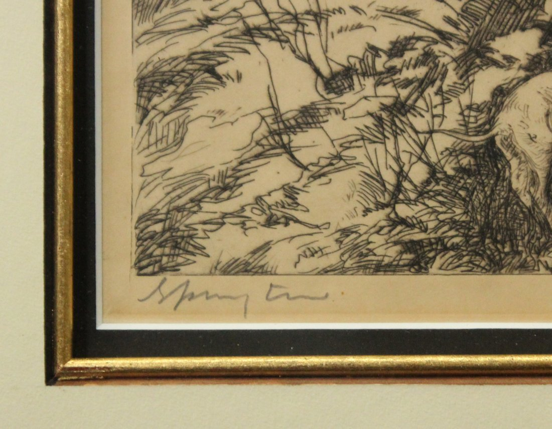 JOHN COSTIGAN  (1888 - 1972) SPRING TIME Signed Etching - 4
