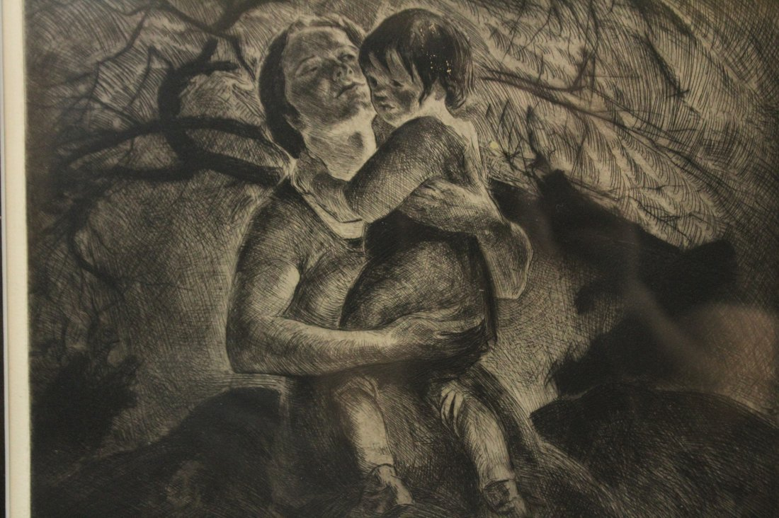 JOHN COSTIGAN  (1888 -1972) MOTHER CHILD Signed Etching - 2